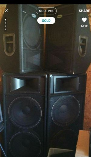 Dj System Peavey Amps Xover Behringer EQ Sonic maximizer power conditioner and rolling rack! 2 Yamaha 215s for Sale in Port St. Lucie, FL
