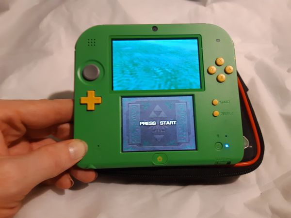 Nintendo 2DS Zelda Limited Edition 32gb upgrade with Ocarina of time