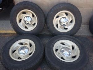 F150 Expedition Navigator 17 inch alloy rims and tires 5 on 135mm for Sale in Montebello, CA