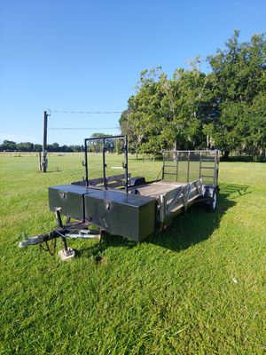 Custom trailer with tool boxes 7x14 for Sale in Lithia, FL