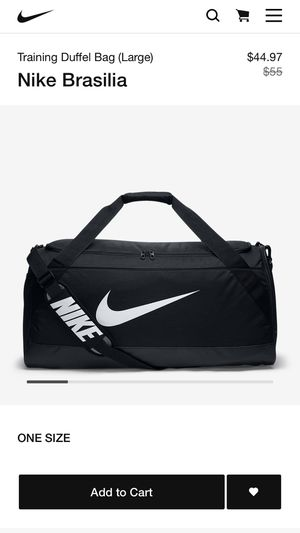 LARGE Nike duffle bag brand new for Sale in New Britain, CT