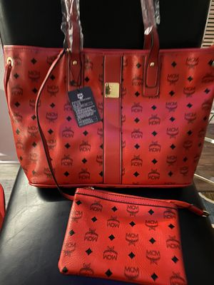Red Leather Tote Bag 2piece for Sale in Springfield, VA
