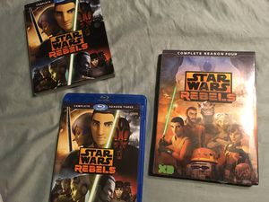 Star Wars Rebels...season 3 (Blu ray) and brand new factory sealed season 4 (dvd) for Sale in Abilene, TX