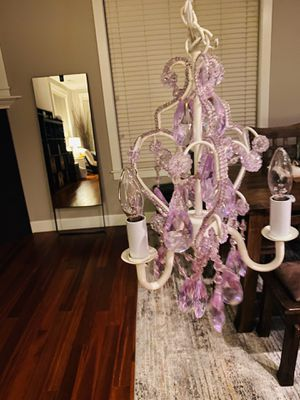Small purple chandelier for Sale in Woodinville, WA