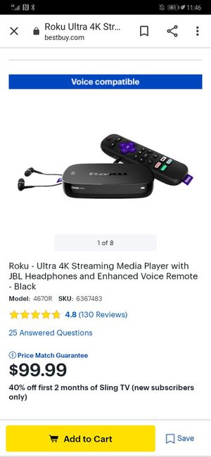 Roku ultra brand new for Sale in Minneapolis, MN