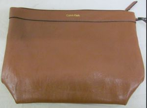Calvin Klein brown leather wristlet for Sale in Bowie, MD