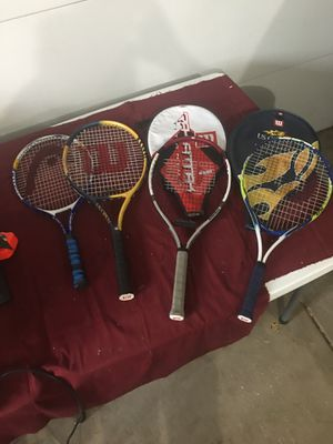 Tennis Rackets(4) for Sale in Arlington Heights, IL
