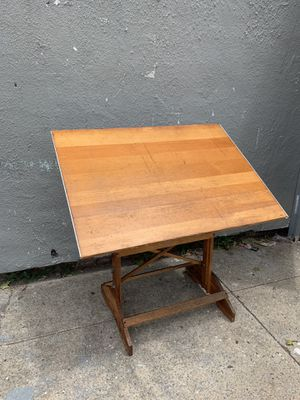 Drafting Table Wood Tilting Adjustable Desk Drawing Vintage for Sale in Brooklyn, NY