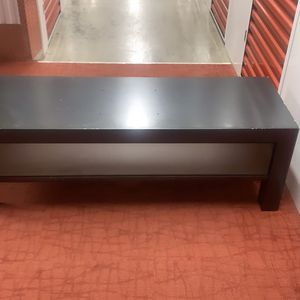 Large Modern TV Stand/console With Sliding Acrylic Door - Only Needs Cleaning And Perhaps Light Polishing for Sale in Atlanta, GA