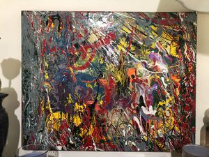 Abstract art 16x20 stretched canvas for Sale in Wallingford, CT