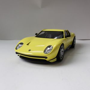 NEW Large Yellow Lamborghini Miura Concept Italian Super Car Toy Diecast Metal Model Scale 1/24 1:24 124 for Sale in Trenton, NJ
