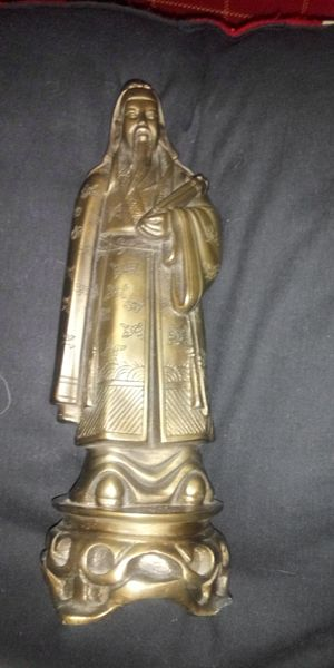 Vintage bronze chinese emperor jade for Sale in Itasca, IL