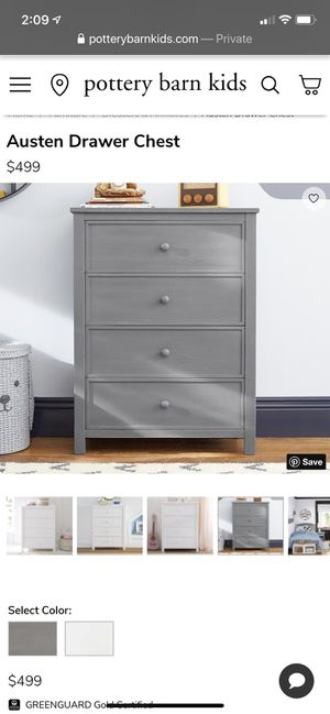 Pottery Barn Kids bedroom set- (2) twin beds and dresser chest in Gray for Sale in Huntington Beach, CA