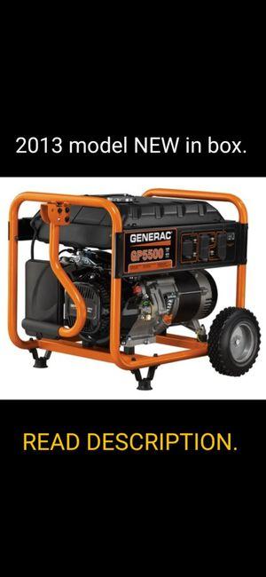 Generac GP5500 Generator BRAND NEW never been run. for Sale in Pemberton, NJ