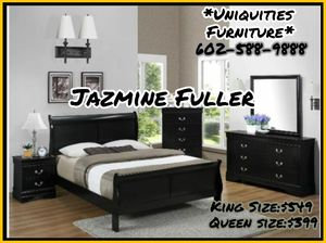 King size 4 piece bedroom set COLOR CHOICE for Sale in Glendale, AZ