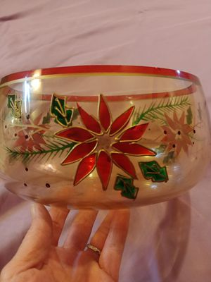 Vintage Christmas punch bowl. for Sale in Gaston, SC