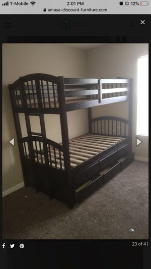 Bunk bed frame with mattress brand new for Sale in Houston, TX