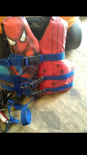 Life jacket for toddler bombo for baby and a collapsible high chair and a wipe warmer for Sale in Isleton, CA