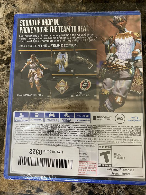Apex game for PS4. Brand new, never used. Still in original gaming plastic packaging.