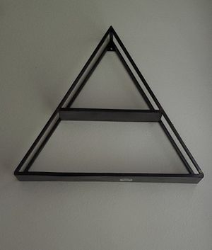 2 Metal triangle wall shelves for Sale in Kissimmee, FL