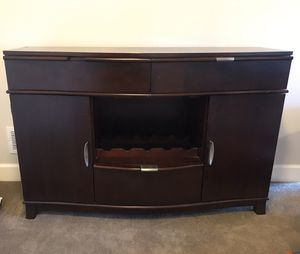 Side board buffet cabinet with wine rack for Sale in Evergreen, CO