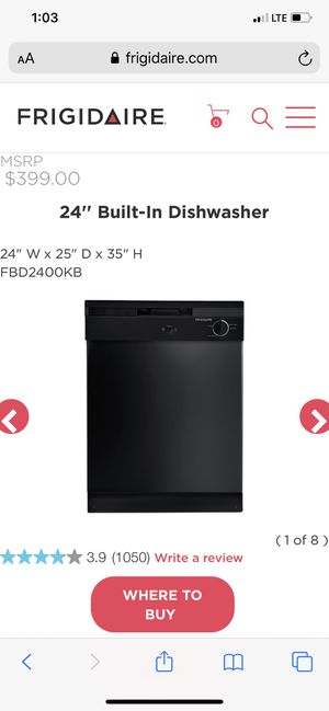 "Brand new Frigidaire 24"" dishwasher for Sale in Acworth, GA"