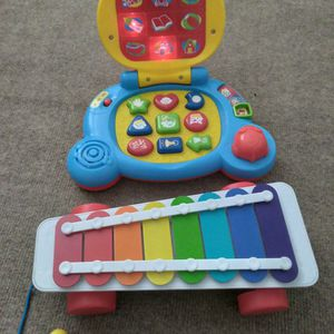 Baby Toys (Learning Laptop And Xilophone). Like New. for Sale in Riverside, CA