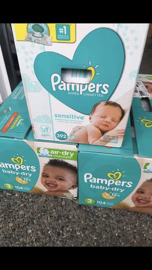 Pampers bundle. Diaper / wipes for Sale in Renton, WA