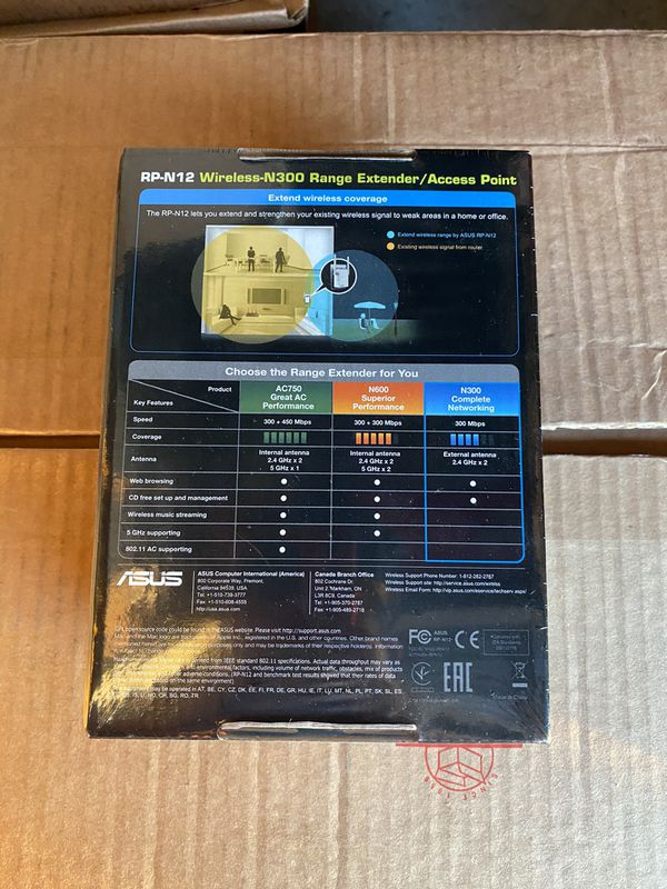 Asus N300 Range Extender Access Point - Brand New