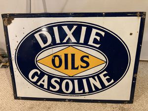 Dixie Oils Gasoline Metal Sign (4ft wide and 34in tall) for Sale in St. Charles, IL