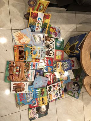 20+ hardcover boards for young kids including touch and feel, cut-out animal face, pull-out pictures, cd book, slide-and-find, spinning round-and-rou for Sale in Garden Grove, CA