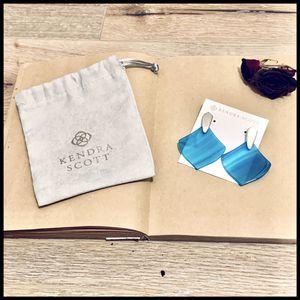 Kendra Scott   Astoria   Teal Agate   earrings for Sale in Sugar Land, TX