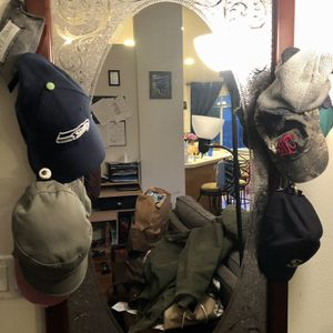 Entryway Mirror/hat Hooks for Sale in Bothell, WA