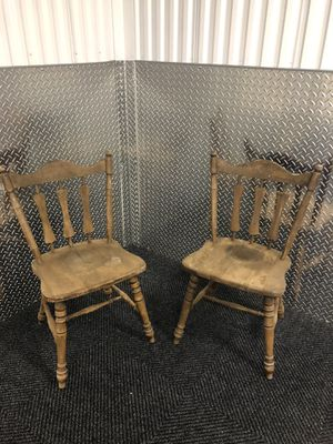 Three chairs wooden antique for Sale in Alexandria, VA