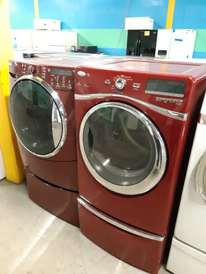 MIX AND MATCH FRONT LOAD WASHER AND DRYER SET WITH PEDESTAL WORKING PERFECTLY 4 MONTHS WARRANTY for Sale in Baltimore, MD