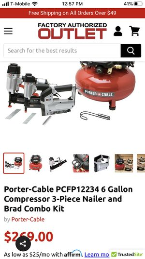 New porter cable compressor set for Sale in Yonkers, NY