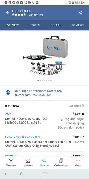 Dremel 4000 for Sale in Cincinnati, OH