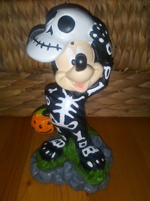 Disney Skeleton Mickey Mouse Halloween Statue Decor for Sale in Wilmington, CA