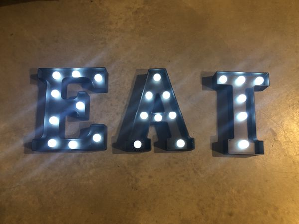 Light up kitchen sign/ home decor- EAT