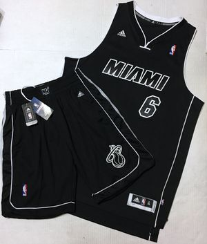 super popular cf1ec 3c799 Rare Lebron James Miami Heat Blackout All Black Jersey   Shorts Size XL for  Sale in
