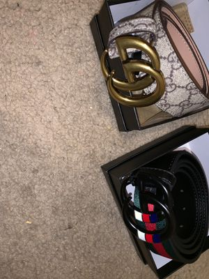 33a504c23b0 Snake Gucci belt and black Gucci belt for  120 for Sale in Houston