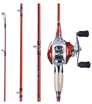 Lightweight Carbon Fiber Fishing Pole and 11+1BB Corrosion Resistant Bearings Fishing Reel, Right Handed for Sale in Corvallis, OR