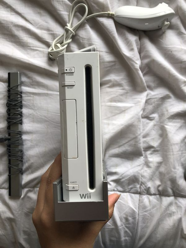 Wii console with controllers - used