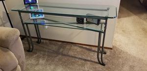 3pc Glass Coffee Table, Entry and Side Tables for Sale in Gresham, OR