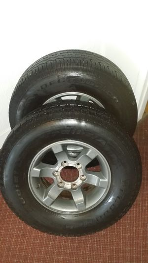 2 tires BF goodrich and wheels for Sale in Salt Lake City, UT