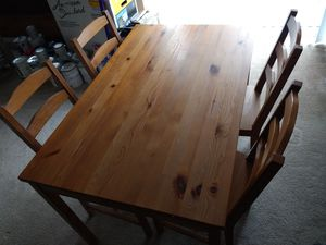 IKEA Jokkmokk dining table and chairs for Sale in Washington, DC