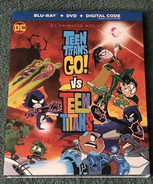 TEEN TITANS GO VS TEEN TITANS BLU-RAY SEALED for Sale in Countryside, IL