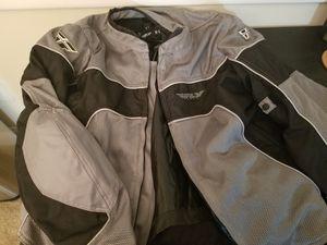 Men's Motorcycle Jacket XL Grey for Sale in Alexandria, VA