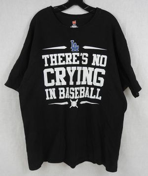 Mens 2XL 2X XXL LA There's No Crying In Baseball T Shirt Black Dodgers for Sale for sale  Temecula, CA