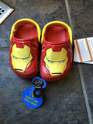 Crocs light-up Iron man toddler size 7 NEW for Sale in Gaithersburg, MD